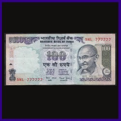 100 Rs Note 009000 Fancy Serial Number - Signed by Reddy