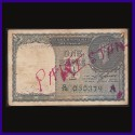 1940 Pakistan Overprint 1 Rupee Note George VI, C. E. Jones, British India Note