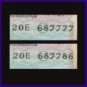 C-21, 786 & 777 Set of 2 UNC Notes - I.G.Patel