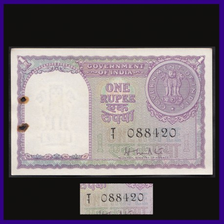 A-5, 1951, UNC 420 Numbered One Rupee Note, H.M.Patel