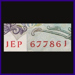 F-4, 786 Number Note Without Flag 50 Rupees - I.G.Patel Sign