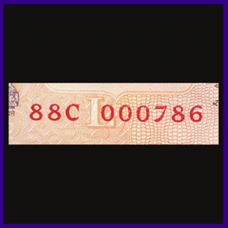 UNC 10 Rs Note 000786 Holy & Fancy Numbered Note