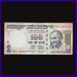 100 Rs Note 666666 Fancy Serial Number Note