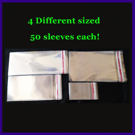 4 Different Sized Currency Plastic Transparent Sleeves With Seal