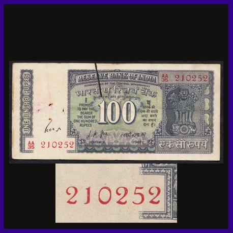 G-10, Gandhi Issue 100 Rs Note, L.K.Jha Sign