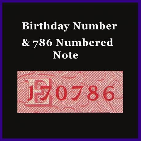 UNC 786 & Birthday Number 20 Rs Note