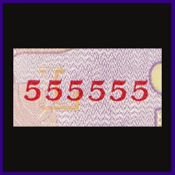 UNC, 50 Rs Note, 555555 Fancy Numbered Note