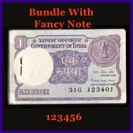 A-47, Fancy 123456 Numbered Full Bundle, Pratap Kishen Kaul, 100 Notes