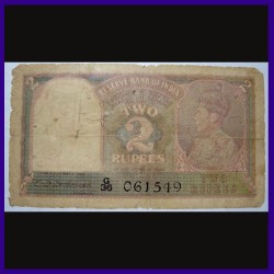 2 Rs, C.D.Deshmukh, Pakistan Overprint, George VI British India Note