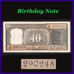D-12, Gandhi 10 Rupees Note L.K.Jha