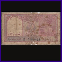 2 Rs, C.D.Deshmukh, Pakistan Overprint Note, George VI, British India