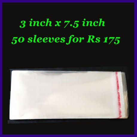 50 Pieces Of 3 Inch x 7.5 Inch Banknote Currency Plastic Transparent Sleeves With Seal