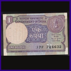 A-54, 1 Re UNC Note 786 Fancy & Holy Number, Bimal Jalan, 1990