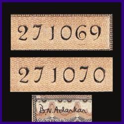 D-13, In Series Birthday Number Set Of 2 Gandhi 10 Rupees Notes B.N.Adarkar